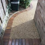 Resin path with brickwork herts