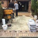 Resin bond preparation of driveway in Hertfordshire